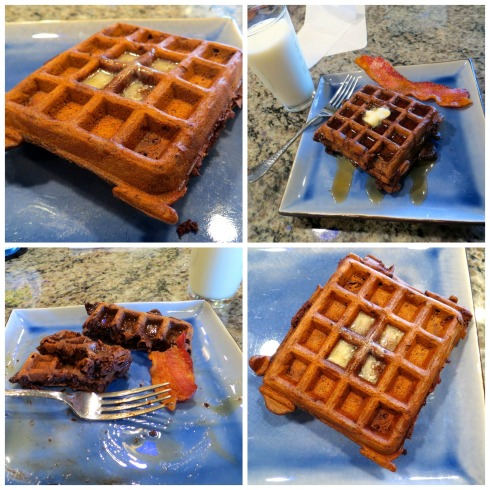 finished choc waffles